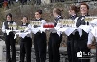 Waiters trays of wine_pamdoyle ww