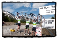GranFondo Highwood Pass summit