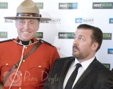 Ricky Gervais and Mountie Banff Filmfest