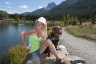 QuarryLk girl hat dog_pamdoyle ww