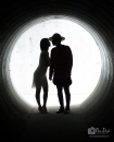 Reach to kiss in tunnel_pamdoyle w
