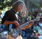 Bass man dreadlocks CanmoreFolk Fest