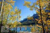 Spray Lakes beautiful fall photo