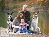 Family photo by Rundle Canal Canmore