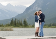Alison and Scott Banff dock_pamdoyle w