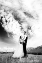 Bride BW clouds Canmore wed_pamdoyle ww