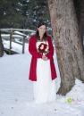 Bride at tree