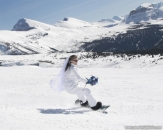 Bride snowboarding Sunshine Village_pamdoyle ww