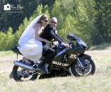 Bride w Biker groom_pamdoyle ww