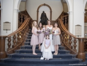ChateauLkLouise bridal party stairs_pamdoyle ww
