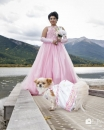 Dog w lady dress VermillionLks_pamdoyle ww