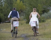 Just Married bicycles couple_pamdoyle ww