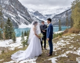 Lake Louise wedding ceremony winter_pamdoyle ww