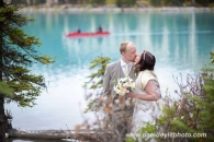 Lake Louise wedding Canoe_pamdoyle