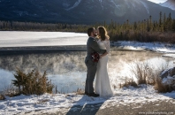 Misty mountain lake wedding Banff_pamdoyle ww