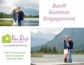Banff Vermillion Lakes Engagement session