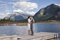 Vermillion Lakes dock wedding Banff w