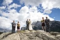 Wed party big sky on rocks w