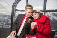 Banff Gondola wedding romantic