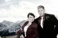 Banff Gondola wedding couple