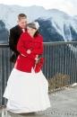 Banff Gondola wedding hug