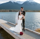 Dock at Vermillion Lakes wedding