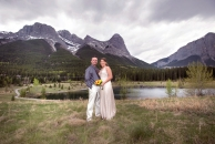 Quarry Lake wedding, Canmore, Alberta