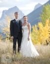 Three Sisters Mountains wedding photo