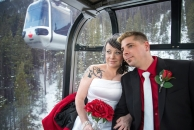 Wedding on Banff Gondola