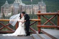 Surprise Corner wedding kiss