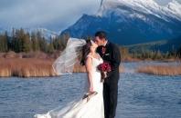 Mount Rundle Vermillion Lakes wedding