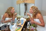 Juniper Hotel room wedding preparations