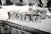 Wedding detail photo love boxes