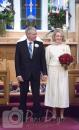 Wedding photo at altar in church