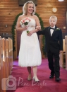 Wedding photo in aisle Anglican Church