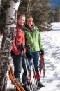 Snowshoe engagement in Rockies