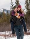 Man carries fiance piggyback
