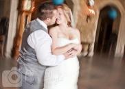 Banff Springs Hotel wedding kiss