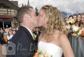 Wedding married kiss photo