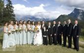 Wedding large wedding party photo