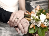 Wedding detail photo rings and hands