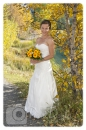 Wedding in fall Quarry Lake bride