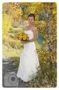 Wedding in fall Quarry Lake bride
