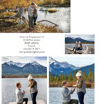 Surprise Engagement at Vermillion Lakes, Banff, Canada