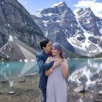 Moraine Lake wedding celebration in Banff National Park